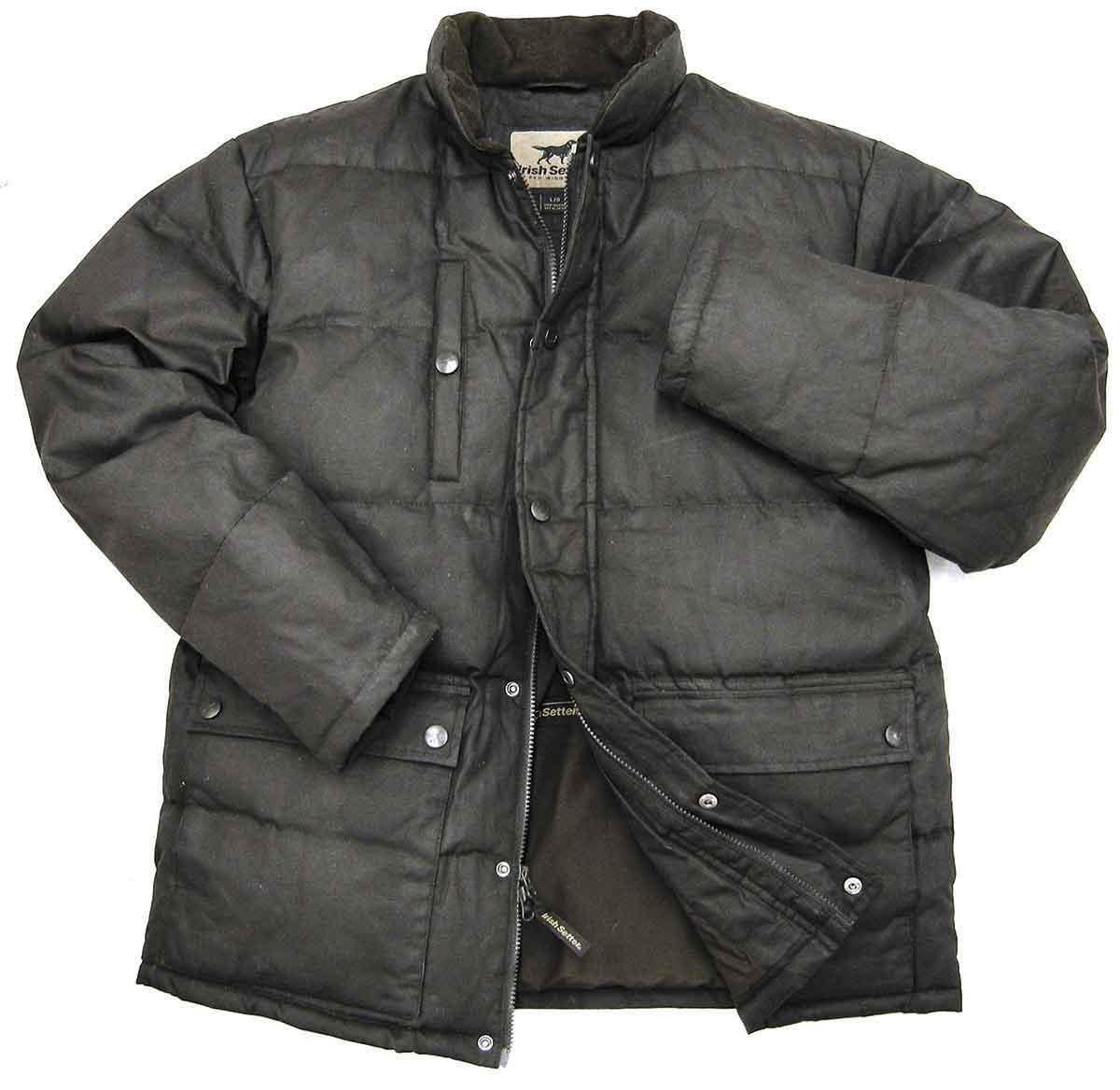 Irish Setter Apparel Bayport Wax Cotton Down Jacket